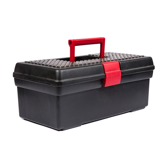 16 in. Plastic Tool Box with Tray
